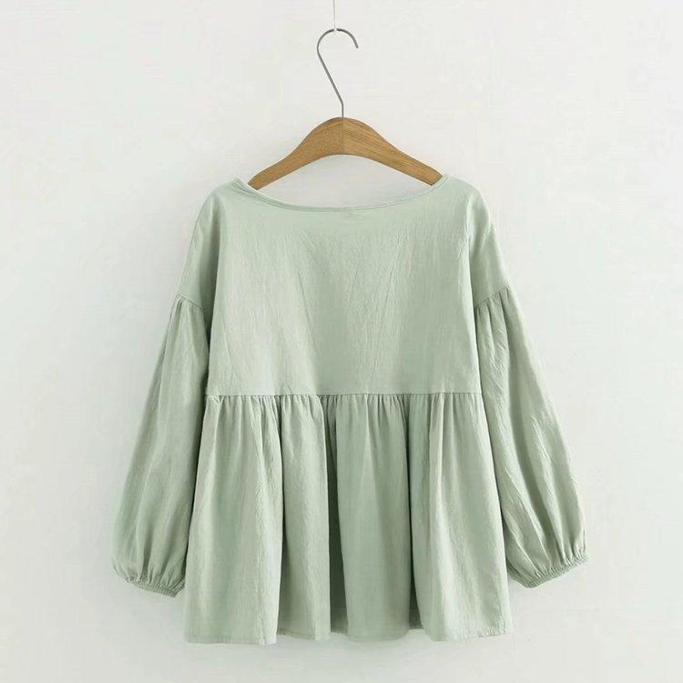 Leila's O Neck Blouse