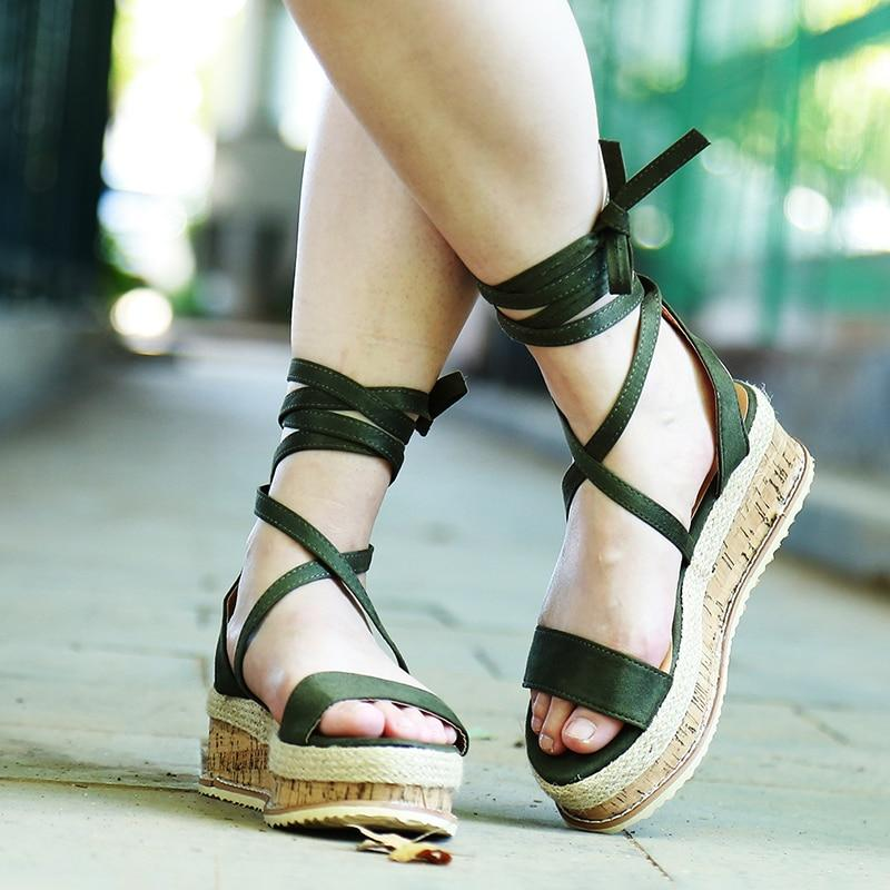 Kairi's Lace Up Gladiator Sandal