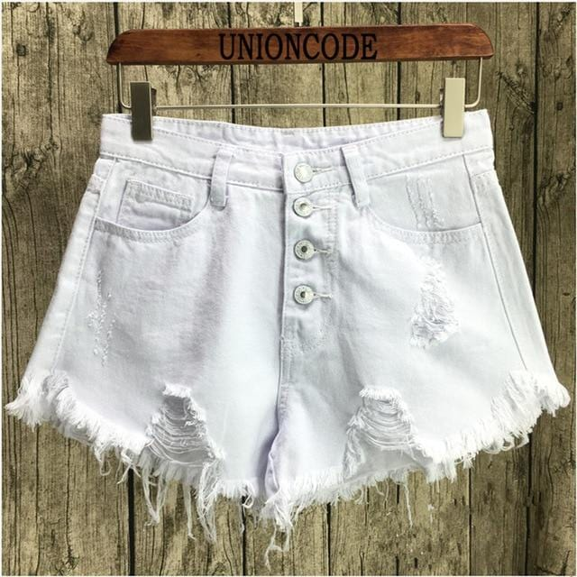 Isabella's Vintage Ripped Denim Shorts