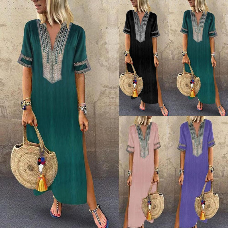 Emerald's V Neck Maxi Dress