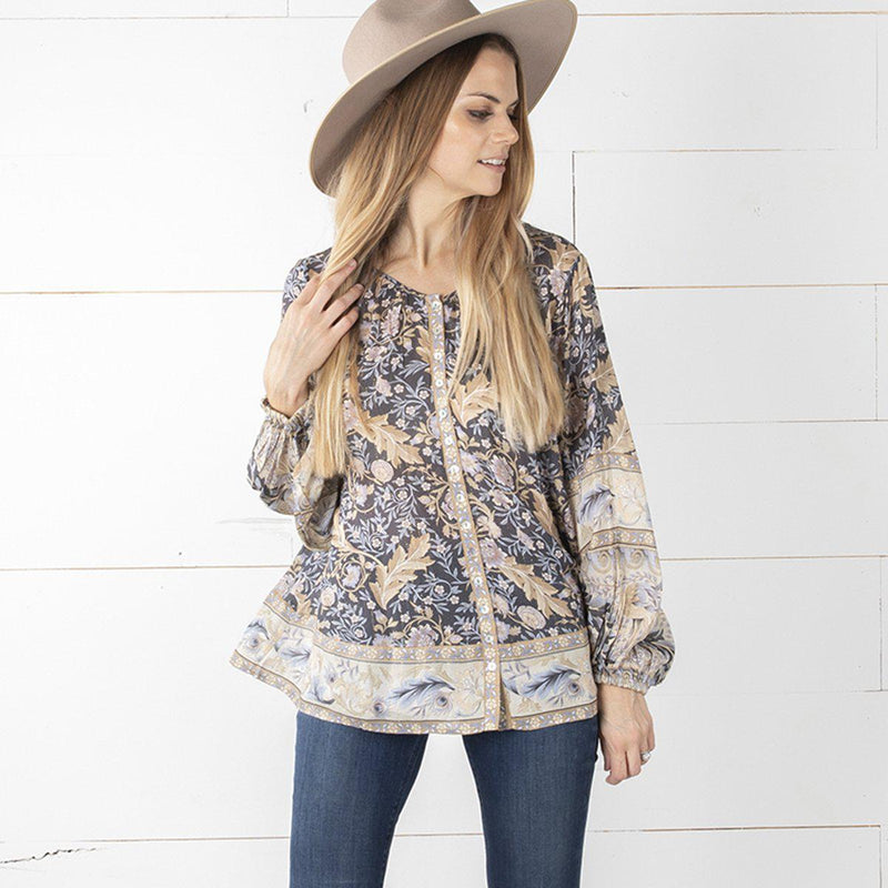 Giselle's V-neck Boho Top