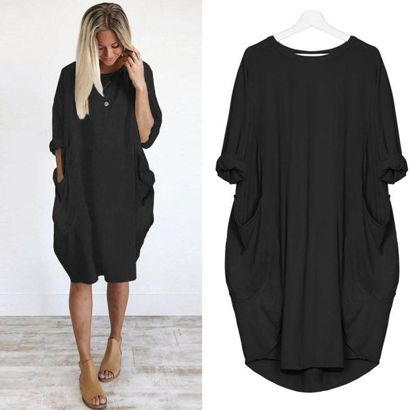 Emmaline's Round Neck Mini Dress