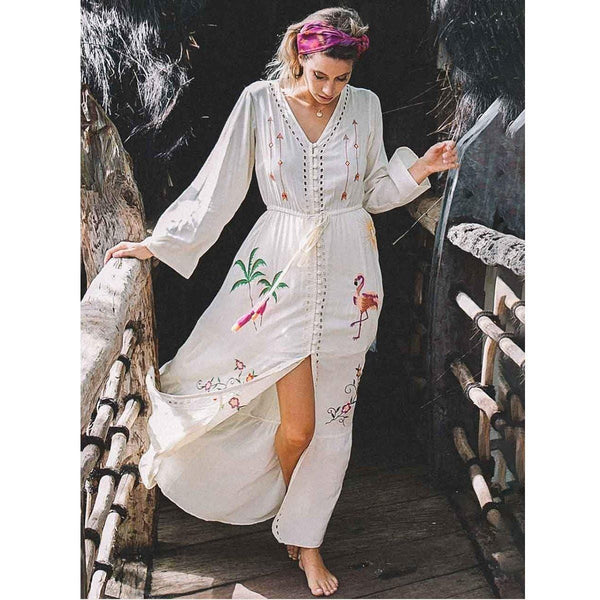 Audrey's Embroidery Long Dress