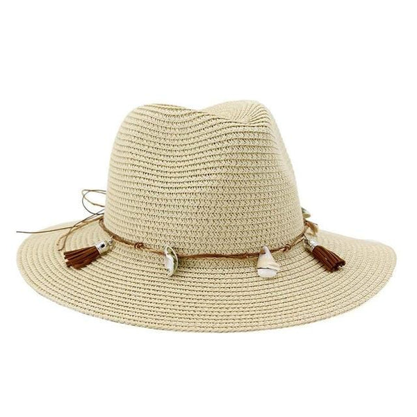 Monroe's Wide Shell Straw Hat