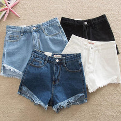 Mia's Mid Waist Zipper Denim Shorts