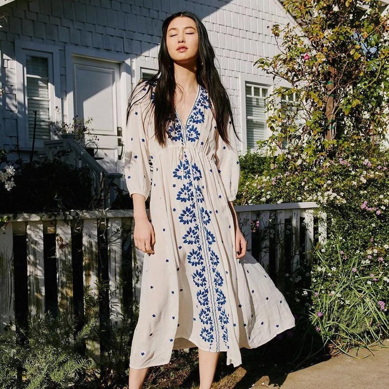 Avery's Embroidery Bohemian Dress
