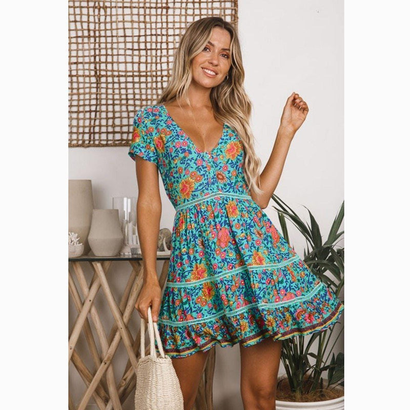 Samantha's Floral Mini Dress