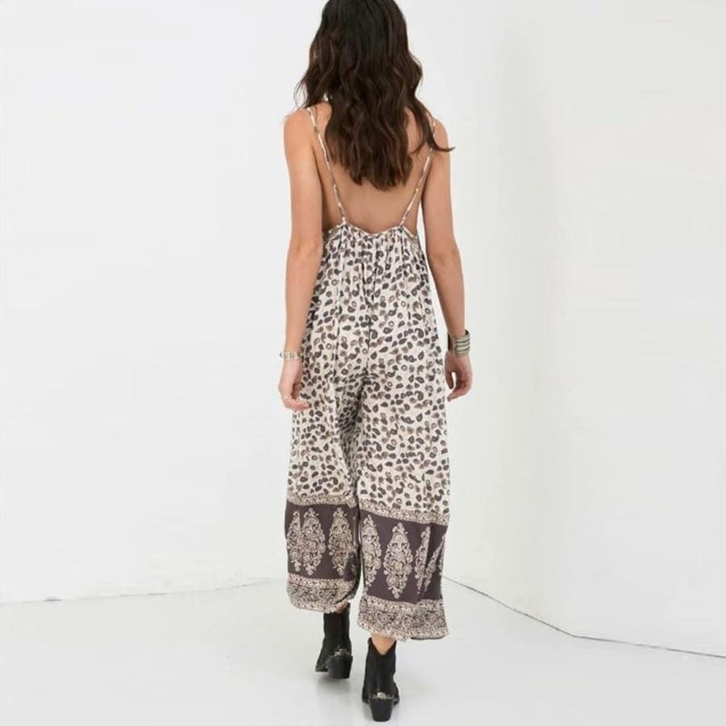 Cecilia's Sexy Backless V-Neck Jumpsuit