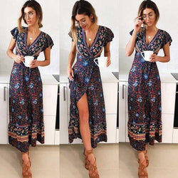 Sloan's V-Neck Boho Dress