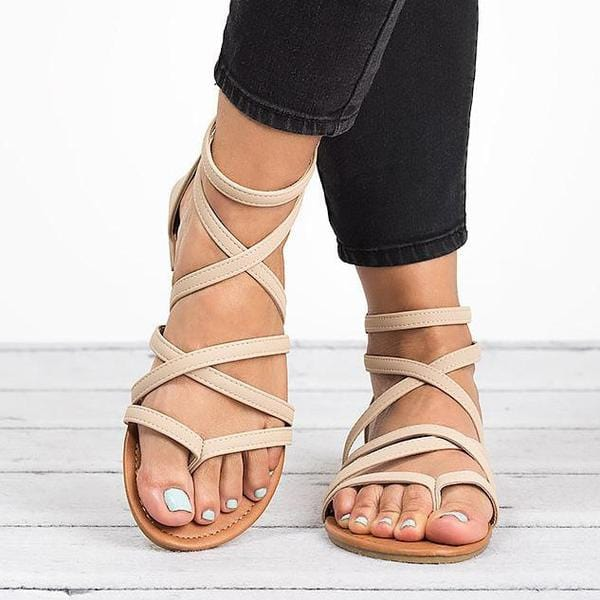 Valeria's Cross Tied Sandal