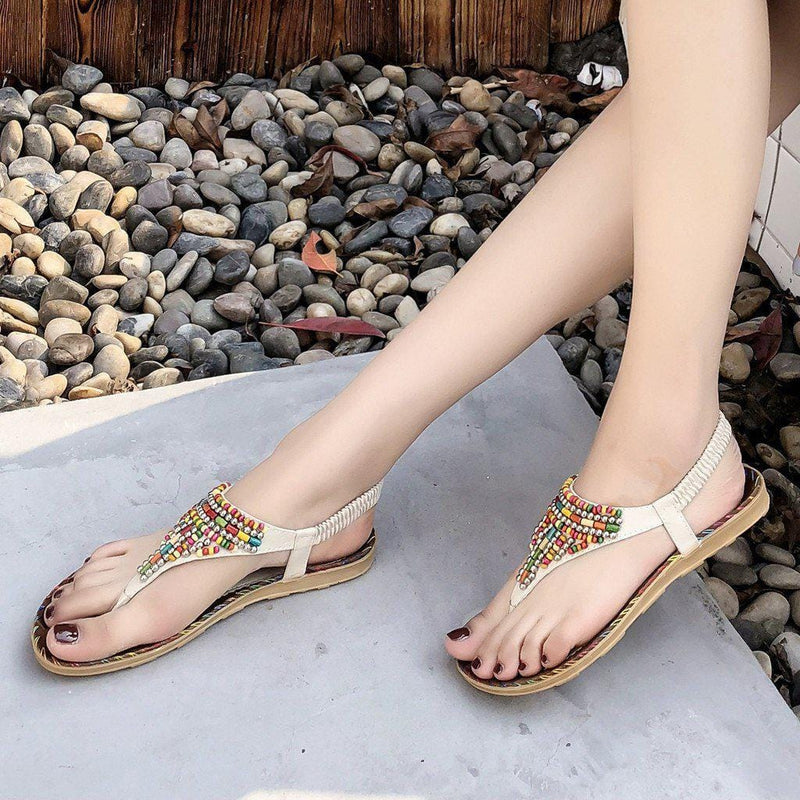 Averi's Boho Beaded Sandal