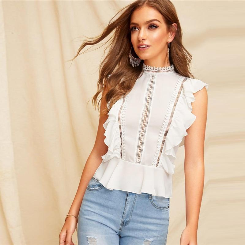 Brandy's Ruffle Lace Top