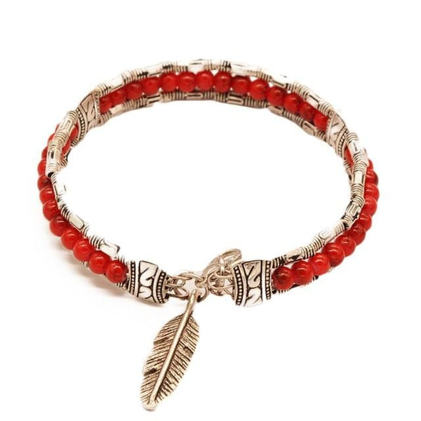 Zion's Feather Bangle Bracelet