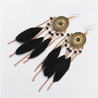 Miley's Feather Style Boho Earrings