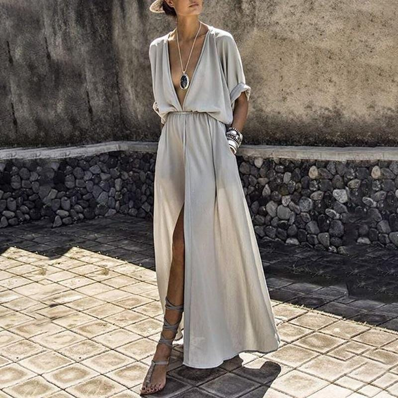 Laney's Elegant Slit Dress