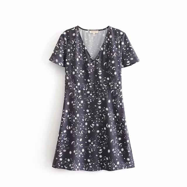 Carlee's Star Print Mini Dress