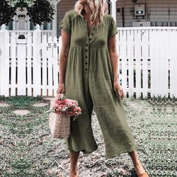 Kimberly's Boho Short Sleeve Jumpsuit