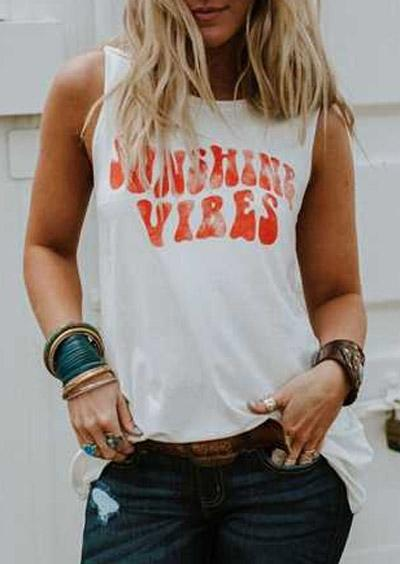 Summer Printed Vibes Tank Top
