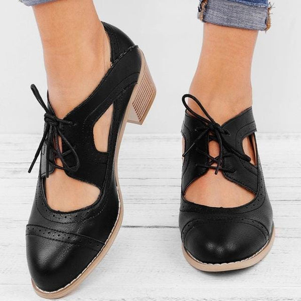 Perla's Vintage Lace-Up Sandal