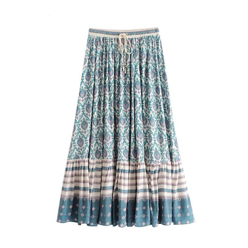 Zelda's Floral Print Pleated Skirt