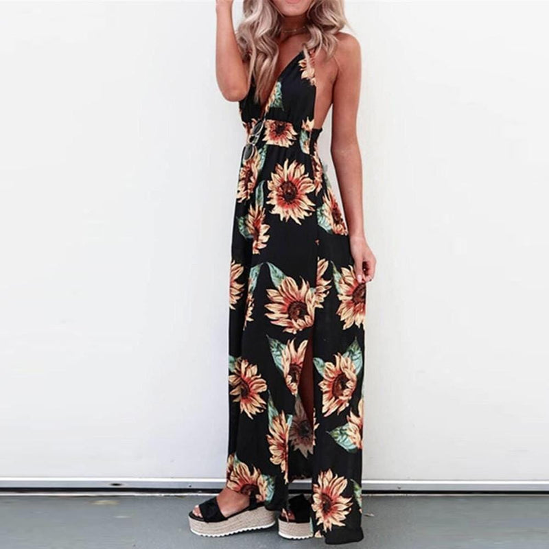 Christina's Sleeveless Long Dress