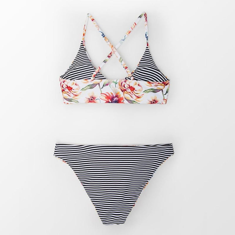 Jayla's Striped Reversible Bikini