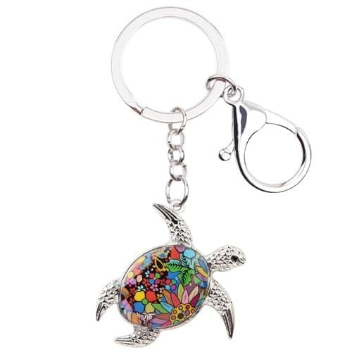 Good Luck Handcrafted Turtle Keychain