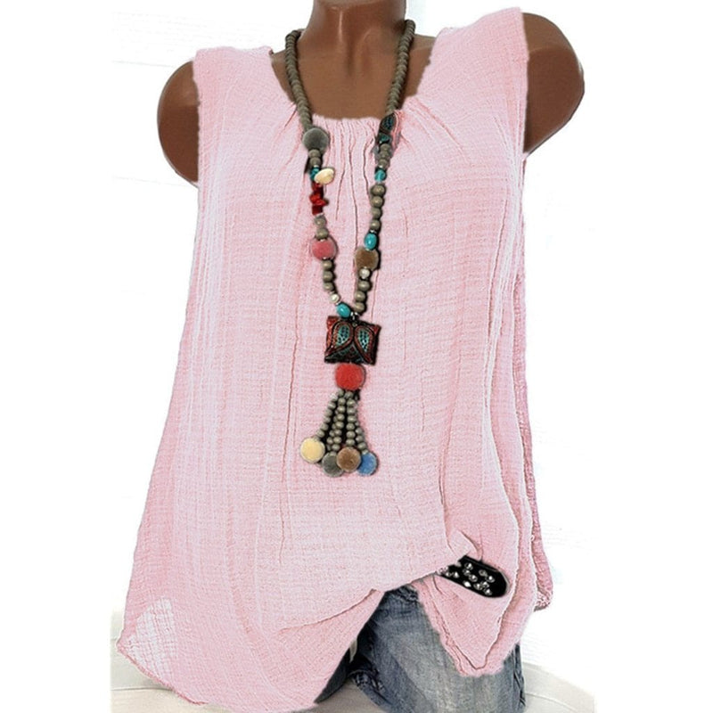 Aaliyah's Sleeveless Baggy T-shirt