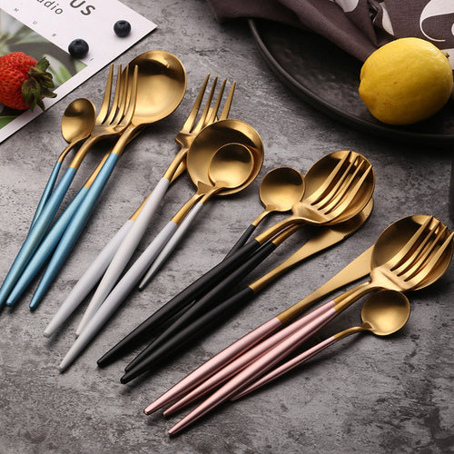 PROMO SALE: Two Tone Cutlery (4 pc set)