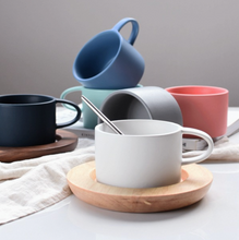 Load image into Gallery viewer, Nordic Coffee Cup and Wooden Saucer (Sold Separately)
