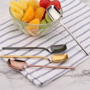 Modern Dessert Spoon and Fork (2pc set)