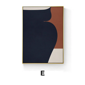 Marrone Abstract Print