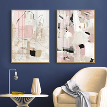 Load image into Gallery viewer, Crema Abstract Print