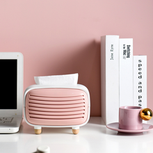 Load image into Gallery viewer, Retro Radio Design Tissue Holder