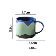 Load image into Gallery viewer, Tri-coloured Stackable Coffee Mug