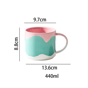 Tri-coloured Stackable Coffee Mug