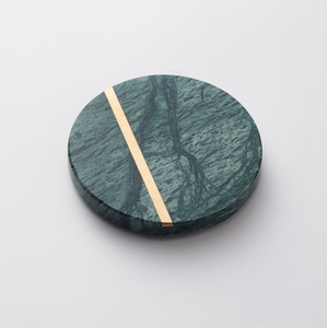 Marble Coaster with Gold Trim (4pc set)