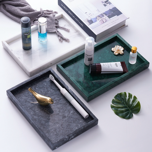 Rectangular Marble Vanity Tray
