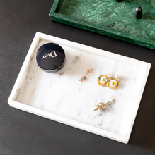 Load image into Gallery viewer, Rectangular Marble Vanity Tray