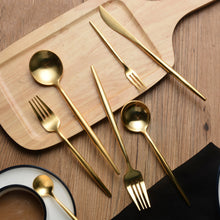Load image into Gallery viewer, Gold Cutlery (4 pc set)