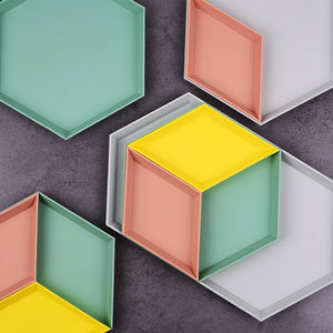 Geometric Trays (4pc set)