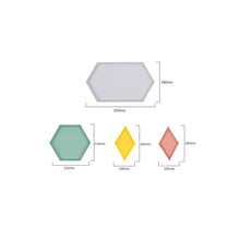 Load image into Gallery viewer, Geometric Trays (4pc set)