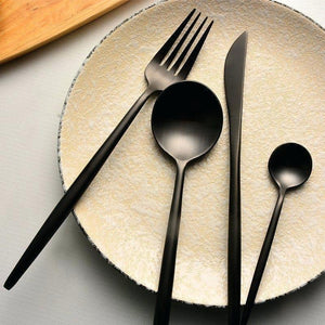 Matte Black Cutlery (4pc Set)