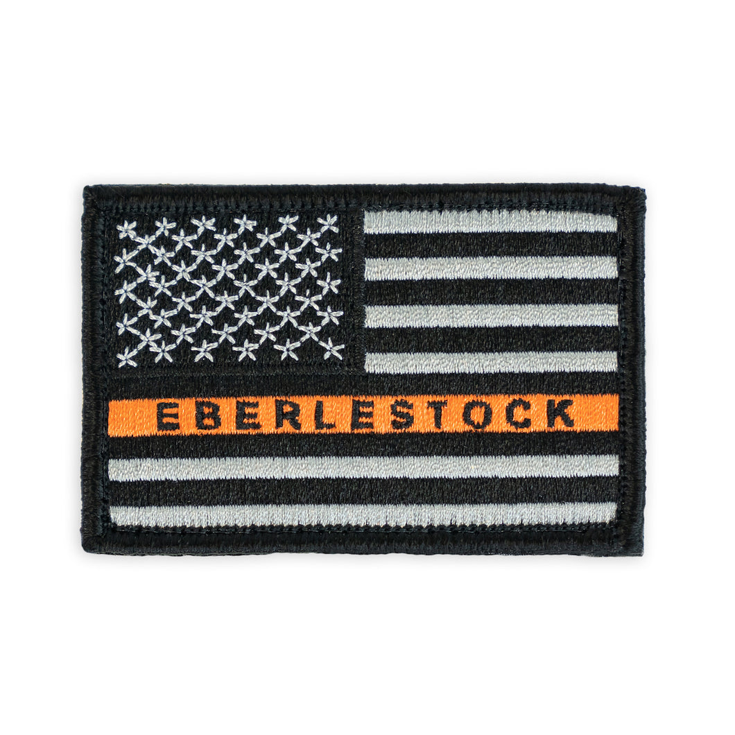 American Flag Patch, Black