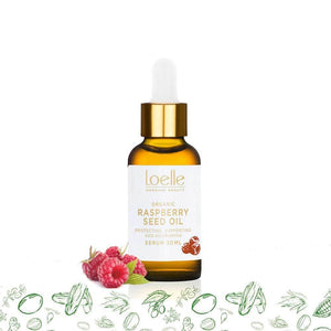Loelle Organic Beauty Raspberry Seed Oil Organic & Cold Pressed Raspberry Seed Oil | Loelle Organic Beauty give us beauty Grainne McCoy Makeup Artist
