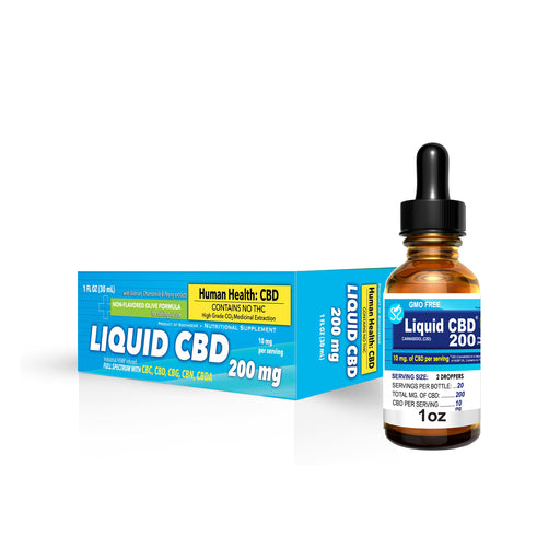 70% Sale on Liquid CBD 200mg - 1oz  (OLD INVENTORY - WILL EXP. 3/2020)