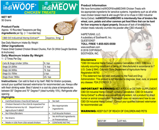 indiPETUSA™ CBD Chicken Treats for Cats & Dogs