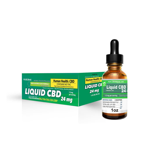 70% Sale on Liquid CBD 24mg - 1 oz (OLD INVENTORY - WILL EXP. 3/2020)
