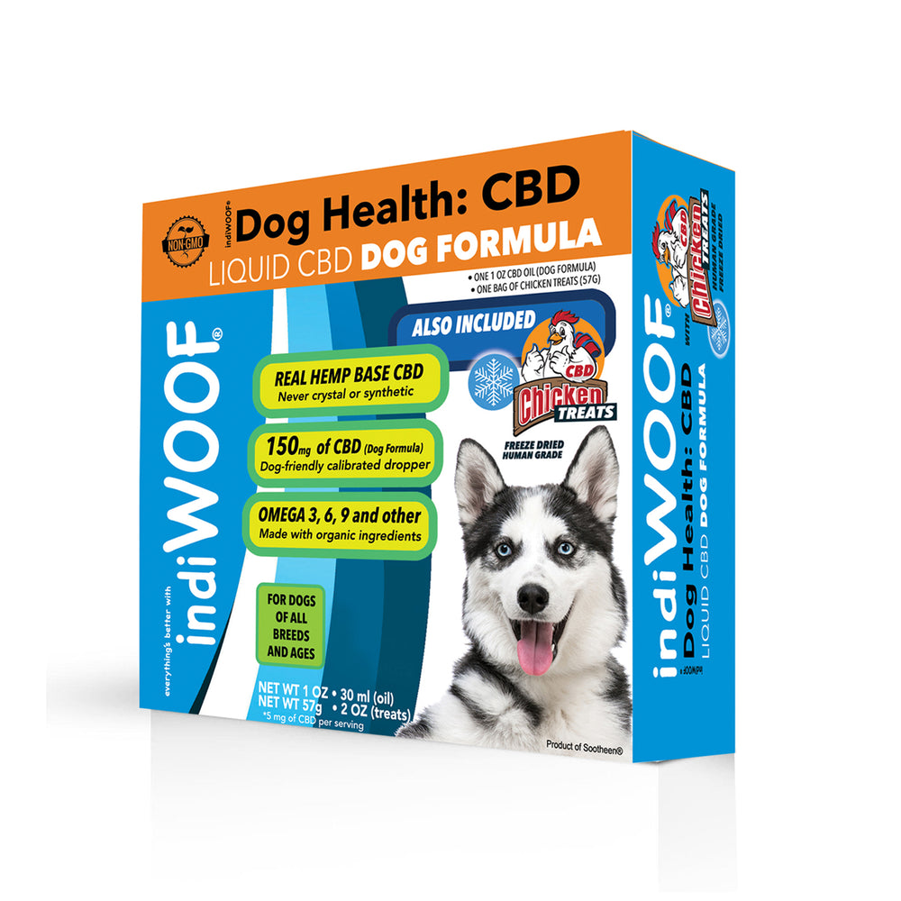 indiWOOF™ Liquid CBD Oil 1oz + CBD Chicken Treats