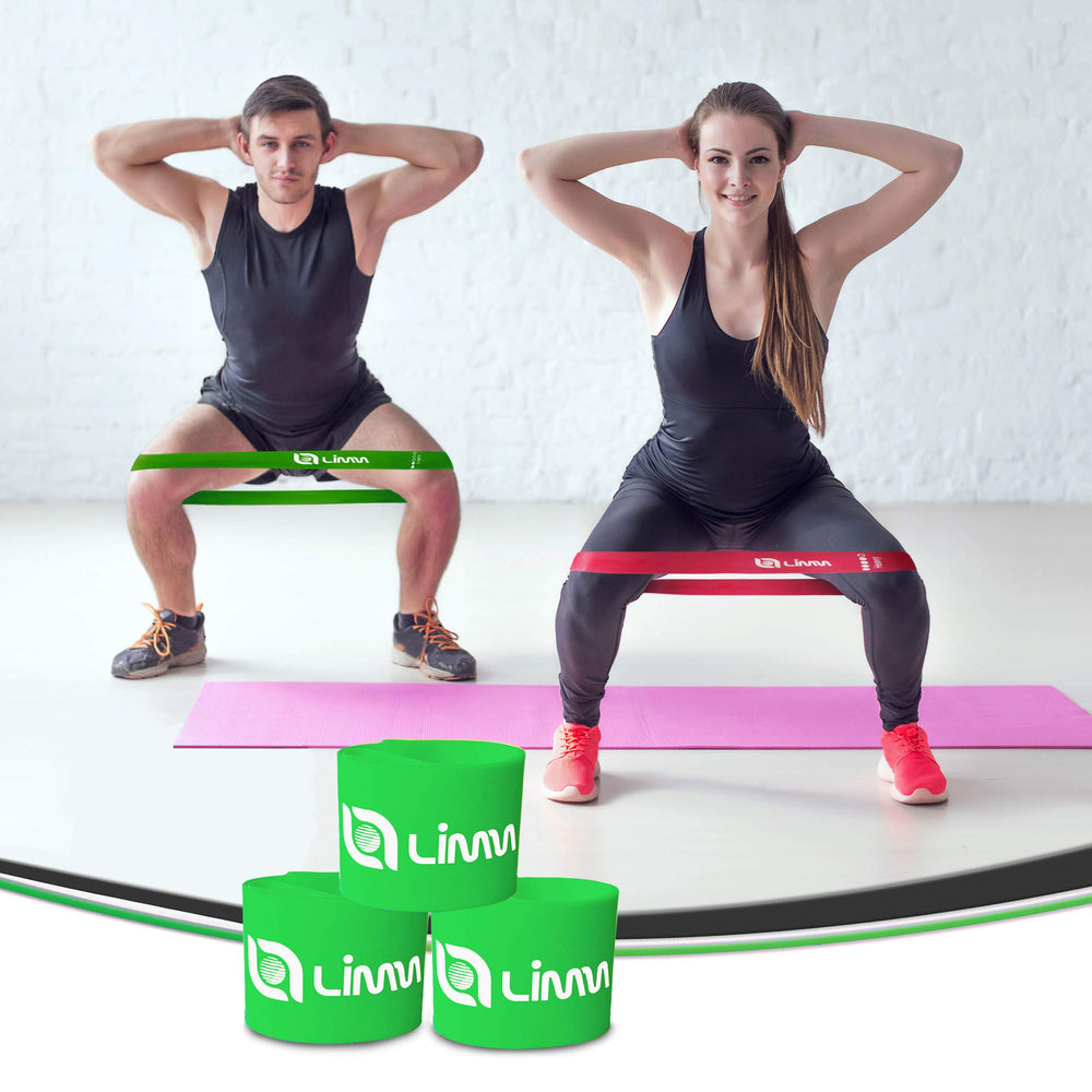 Green Resistance Loop Exercise Bands - Set of 3 Bands